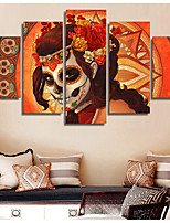 cheap -Halloween Skeleton Wall Art Canvas Prints Painting Artwork Picture Christmas Home Decoration Dcor Rolled Canvas No Frame Unframed Unstretched