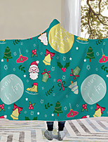 cheap -New Christmas customizable digital printed hooded home children thick double layer magic cloak with hat blanket