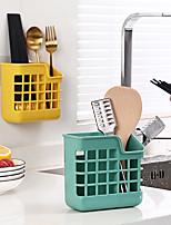 cheap -Nordic Kitchen Tableware Basket Rack Chopsticks Cage Storage Box Spoon Fork Basket Wall-Mounted Punch-Free Drain Chopstick Holder Cage