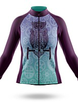 cheap -21Grams Women's Long Sleeve Cycling Jersey Spandex Polyester Purple Gear Funny Bike Top Mountain Bike MTB Road Bike Cycling Quick Dry Moisture Wicking Breathable Sports Clothing Apparel / Stretchy