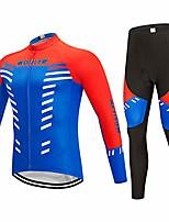 cheap -autumn and winter men and women long-sleeved jersey riding pants riding sportswear outdoor mountain bike riding equipment sportswear suit (size : blue-xxxl)