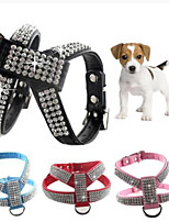 cheap -Bling Soft Leather Dog & Cat Collar - Rhinestone Flocking Sparkly Crystal Diamonds Studded - Perfect for Pet Show