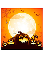 cheap -Halloween Wall Art Canvas Prints Painting Artwork Picture Pumpkins Home Decoration Dcor Rolled Canvas No Frame Unframed Unstretched