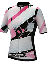 cheap -21Grams Women's Short Sleeve Cycling Jersey Summer Spandex Polyester Black+White Graffiti Funny Bike Top Mountain Bike MTB Road Bike Cycling Quick Dry Moisture Wicking Breathable Sports Clothing