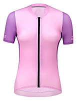 cheap -21Grams Women's Short Sleeve Cycling Jersey Summer Spandex Pink Color Block Bike Top Mountain Bike MTB Road Bike Cycling Quick Dry Moisture Wicking Sports Clothing Apparel / Stretchy / Athleisure