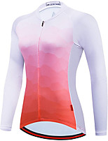 cheap -21Grams Women's Long Sleeve Cycling Jersey Spandex Orange Gradient Bike Top Mountain Bike MTB Road Bike Cycling Quick Dry Moisture Wicking Sports Clothing Apparel / Stretchy / Athleisure