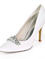 cheap -Women's Wedding Shoes Stiletto Heel Pointed Toe Wedding Pumps Wedding Gleit Rhinestone Solid Colored Light Purple Champagne White