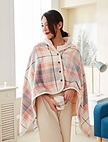 cheap -blanket shawl wraps for women, plush wearable blanket and wraps lightweight microfiber throws with buttons for sofa office, traveling and outdoor,color block plaid design (medium, pink gray fine grid)