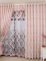 cheap -Two Panel Nordic Style Jacquard Curtains For Living Room Bedroom Dining Children's Room Heat Insulation Curtains