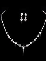 cheap -Women's Hoop Earrings Necklace Chandelier Petal Stylish Vintage Korean French Cute Earrings Jewelry White For Wedding Engagement Work Club Festival 1 set
