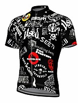 cheap -21Grams Men's Short Sleeve Cycling Jersey Summer Spandex Polyester Black Funny Bike Top Mountain Bike MTB Road Bike Cycling Quick Dry Moisture Wicking Breathable Sports Clothing Apparel / Athleisure