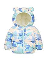 cheap -Toddler Unisex Coat Long Sleeve Dinosaur yellow Boat blue Little bird white Print Cute 2-6 Years / Winter