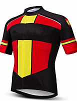 cheap -CAWANFLY Men's Short Sleeve Cycling Jersey Summer Black / Red Bike Tee Tshirt Jersey Top Road Bike Cycling Quick Dry Sports Clothing Apparel / Micro-elastic