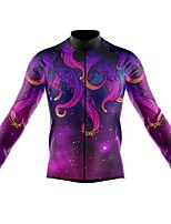 cheap -21Grams Men's Long Sleeve Cycling Jersey Spandex Polyester Purple Funny Animal Bike Top Mountain Bike MTB Road Bike Cycling Quick Dry Moisture Wicking Breathable Sports Clothing Apparel / Stretchy