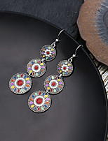 cheap -Women's Earrings Geometrical Floral Theme Earrings Jewelry Yellow / Red / Blue For Daily Holiday Promise 1 Pair