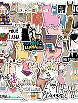 cheap -50 pieces cute alpaca sheep animal sticker llama camel kawaii cartoon for laptop scrapbook skateboard car toy decals stickers