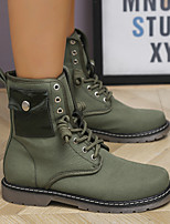 cheap -Women's Boots Block Heel Round Toe Daily PU Lace-up Solid Colored Leopard Army Green Khaki / Over The Knee Boots