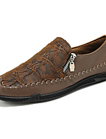 cheap -Men's Loafers & Slip-Ons Business Vintage Classic Daily Faux Leather Breathable Black Brown Fall