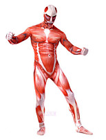 cheap -Halloween Shapewear Attack on Titan One-piece High-Stretch Muscle Shaper Tights Cosplay Anime