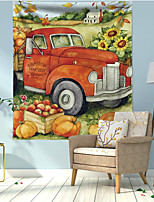 cheap -Autumn Harvest Wall Tapestry Art Decor Blanket Curtain Hanging Home Bedroom Living Room Decoration Polyester Sunflower Fall