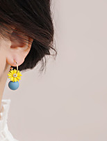 cheap -Women's Earrings Geometrical Floral Theme Joy Stylish Simple Earrings Jewelry Yellow For Daily Holiday Promise 1 Pair