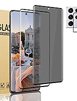 """cheap -[2+1] galaxy s21 ultra 5g tempered glass screen protector privacy/hd+lens protector support fingerprint unlocking 9h hardness scratch resistant scratch resistance for samsung galaxy s21 ultra 5g 6.8"""""""