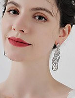 cheap -Women's Drop Earrings Hoop Earrings Earrings Retro Drop Stylish Artistic Simple Elegant Vintage Imitation Diamond Earrings Jewelry White For Party Wedding Holiday Engagement Festival 2pcs