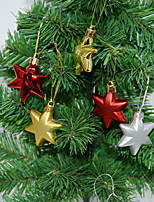 cheap -Christmas Tree Garland Ornament Decoration Pendant Christmas Special-shaped Ball 4.5cm Special-shaped Electroplating Six-pointed Star Gift Box
