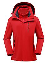 cheap -Women's Hiking 3-in-1 Jackets Ski Jacket Hiking Fleece Jacket Polar Fleece Winter Outdoor Thermal Warm Waterproof Windproof Quick Dry Hoodie Windbreaker Trench Coat Skiing Ski / Snowboard Fishing