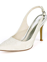 cheap -Women's Wedding Shoes Stiletto Heel Pointed Toe Wedding Pumps Wedding Lace Floral Light Purple Ivory White