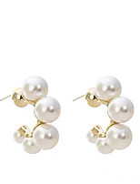 cheap -Pearl Earrings Classic Simple Elegant Fashion Imitation Pearl Earrings Jewelry Gold For Gift Date 1 Pair