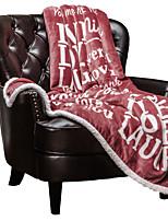 cheap -chanasya love you miss you message print super soft ultra plush warm cozy fleece microfiber reversible sherpa light pink gift throw blanket - for women men - dry rose blanket