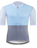 cheap -CAWANFLY Men's Short Sleeve Cycling Jersey Summer Sky Blue Bike Tee Tshirt Jersey Top Road Bike Cycling Quick Dry Sports Clothing Apparel / Micro-elastic