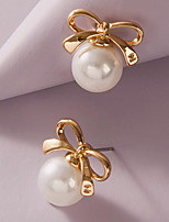 cheap -Women's Earrings Classic Stylish Simple Elegant Fashion Sweet Imitation Pearl Earrings Jewelry White For Christmas Birthday Gift Vacation Promise 1 Pair