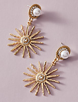 cheap -Women's Drop Earrings Classic Daisy Imitation Pearl Earrings Jewelry Gold For Wedding Gift Prom Date Promise 1 Pair
