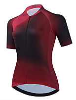 cheap -21Grams Women's Short Sleeve Cycling Jersey Summer Spandex Fuchsia Gradient Bike Top Mountain Bike MTB Road Bike Cycling Quick Dry Moisture Wicking Sports Clothing Apparel / Stretchy / Athleisure