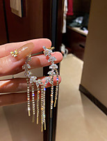 cheap -Women's Girls' Ear Cuff Korean Earrings Jewelry Gold For Birthday Street Gift Date Festival 1 Pair