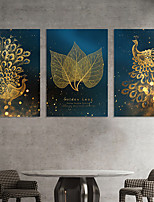 cheap -Wall Art Canvas Prints Painting Artwork Picture Animal Gold Peacock Home Decoration Decor Rolled Canvas No Frame Unframed Unstretched