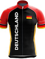 cheap -21Grams Men's Short Sleeve Cycling Jersey Summer Spandex Black / Red National Flag Bike Top Mountain Bike MTB Road Bike Cycling Quick Dry Moisture Wicking Sports Clothing Apparel / Stretchy