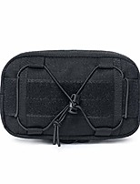 cheap -tactical molle pouch edc utility waist bag military tool holder for sports hiking camping traveling (black)