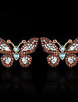 cheap -Women's AAA Cubic Zirconia Earrings Fancy Precious Luxury Elegant Colorful Fashion European Earrings Jewelry Red For Halloween Street Gift Vacation Festival 1 Pair