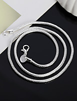 cheap -Chain Necklace Beaded Necklace Chains Men's Women's Geometrical Silver Plated Precious Fashion Rock Cool Silver 51 cm Necklace Jewelry 1pc for Christmas Wedding Street Daily Work Geometric