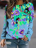 cheap -Women's Sweatshirt Pullover Floral Graphic Prints Print Daily Sports 3D Print Active Streetwear Hoodies Sweatshirts  Blue