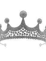 cheap -Crown Headdress Bride Wedding Accessories Korean Sweet Crystal Crown Atmosphere Net Red Same Birthday Hair Accessory