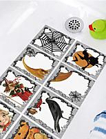 cheap -Halloween Decoration Stickers Non-slip Waterproof Bathtub Stickers Pumpkin Teenager Cartoon Floor Stickers