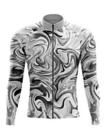 cheap -21Grams Men's Long Sleeve Cycling Jersey Spandex Polyester Purple Grey Black Funny Bike Top Mountain Bike MTB Road Bike Cycling Quick Dry Moisture Wicking Breathable Sports Clothing Apparel