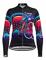 cheap -21Grams Women's Long Sleeve Cycling Jersey Spandex Black Gear Bike Top Mountain Bike MTB Road Bike Cycling Quick Dry Moisture Wicking Sports Clothing Apparel / Stretchy / Athleisure