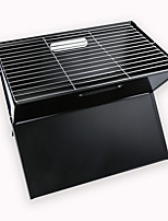 cheap -factory direct sale thick folding household barbecue grill outdoor portable barbecue grill black steel stove business gifts
