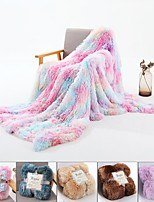 cheap -Microfiber Throw Blanket All Season For Couch Chair Sofa Bed Picnic Long Pile  Soft Fluffy Warm Cozy Plush Autumn Winter