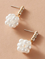 cheap -Women's Earrings Classic Stylish Elegant Fashion Classic Sweet Imitation Pearl Earrings Jewelry White For Wedding Gift Date Vacation Promise 1 Pair